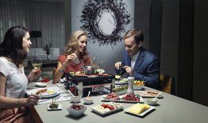 Raclette und Fleischfondue Kombi